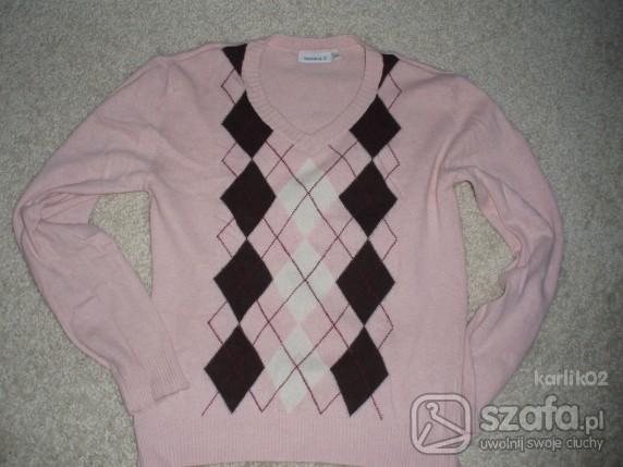 Swetry SWETEREK ROMBY RÓŻOWY rozm 38 PARIS HILTON