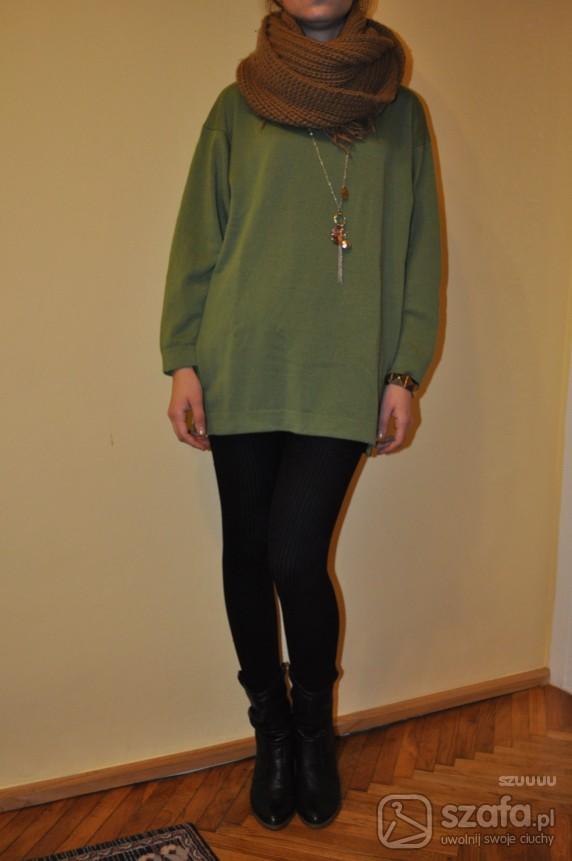 Swetry Zielony sweter oversize