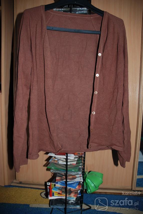 Swetry Brązowy CARDIGAN