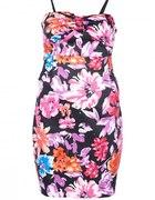 sukienka kwiaty kwiatki flower zip dress vero moda