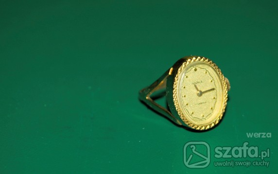 zegarek pierścionek retro