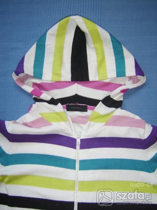 Swetry KOLOROWY PASIK NA ZAMEK Z KPTUREM HIT