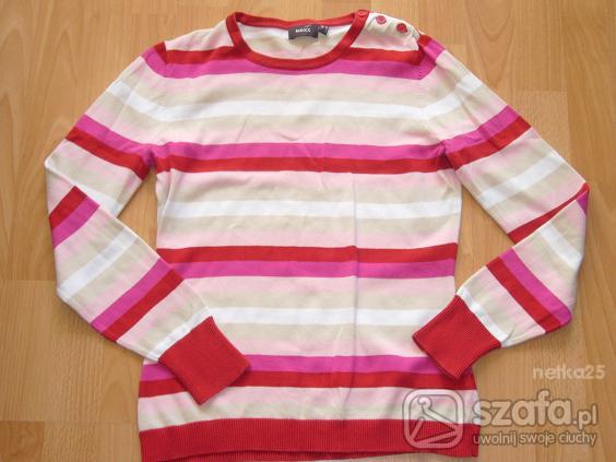 Swetry MEXX cieniutki sweterek w paseczki M