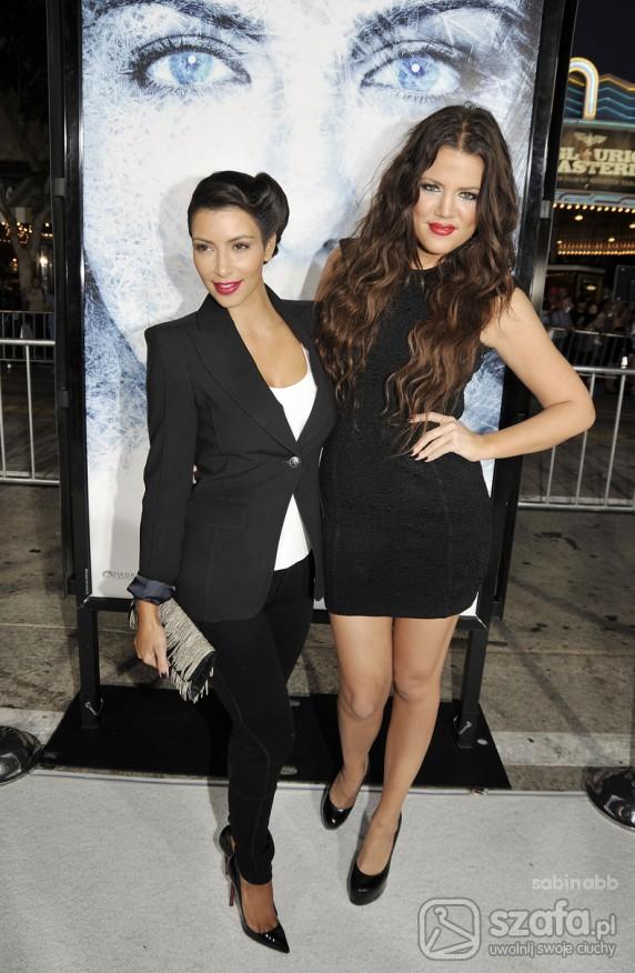 Eleganckie black zestaw sióstr kardashian
