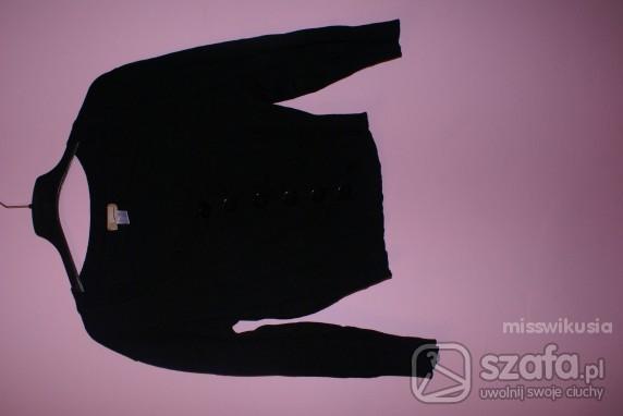 Swetry Czarny kardiagan na guziki