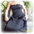 czarna długa suknia Morgana