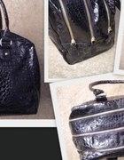 czarna torba xxl zip krokodyl atmosphere...