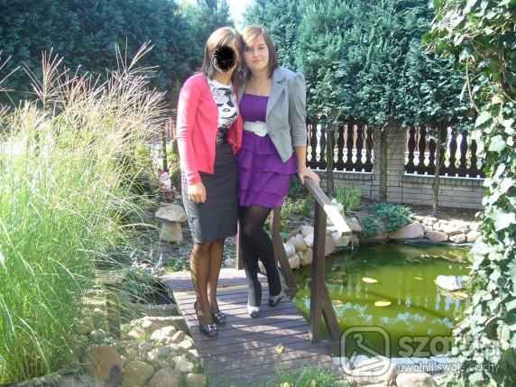 Mój styl fioletowa sukienka atmosphere