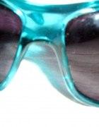 duże morskie okulary new yorker z cyrkonie i wzór...