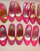 Kilka par różowych butków z mojej szafy