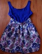 sukienka w róże floral dress