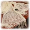 Kremowy koronkowy szal CLAIRE