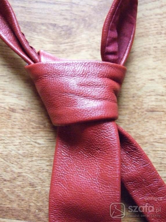 Pozostałe Krawat skórzany