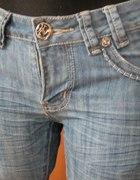 Dżinsy proste nogawki jak nowe XS