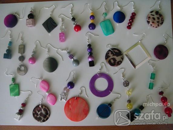 6cf0450c01c8a3 NOWE ręcznie robione kolczyki różne wzory i kolory w Kolczyki - Szafa.pl
