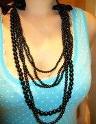 DIY korale czarne i białe perełki...