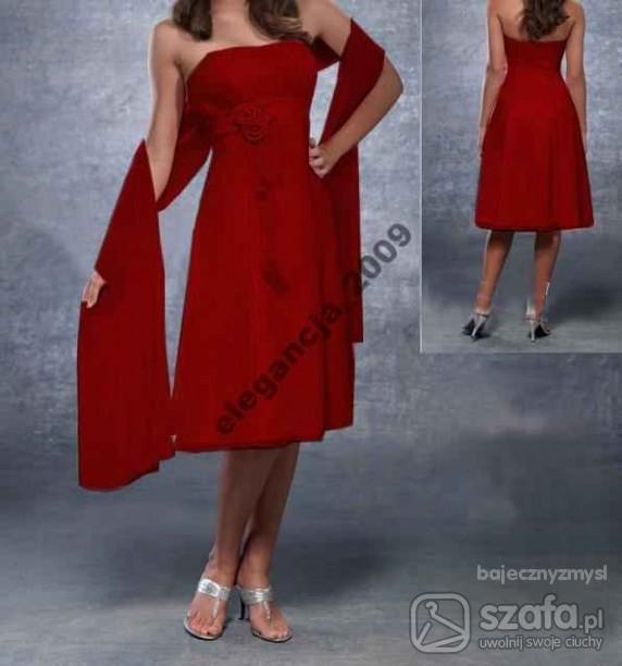 Na specjalne okazje Bordo sukienka