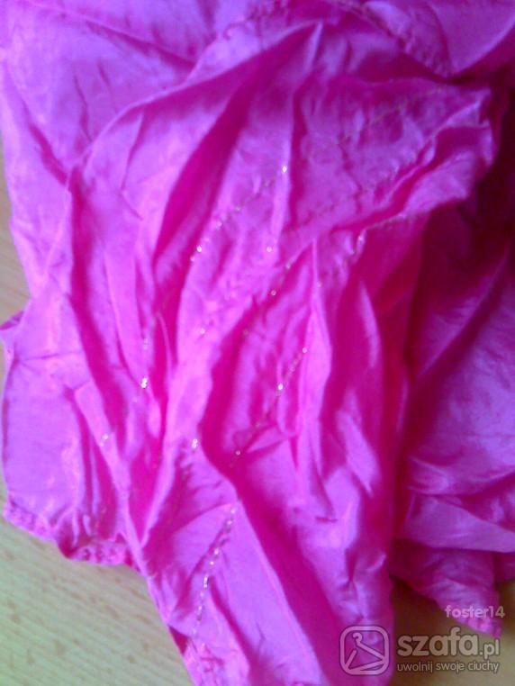 Chusty i apaszki apaszka jedwabna różowa cena z wysyłką