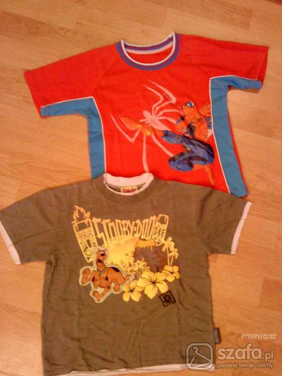 Koszulki, podkoszulki T SHIRT SCOOBY DOO I SPIDERMAN 110 116