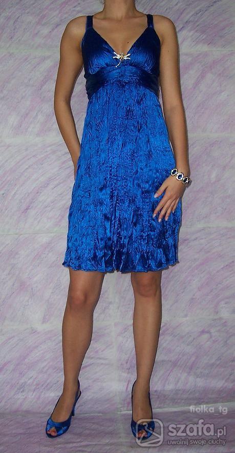 Eleganckie Chabrowa sukienka