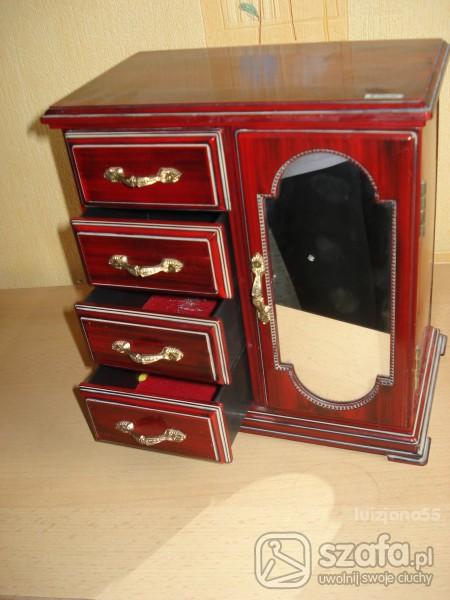 szkatułka szafka na biżuterię z pozytywką...