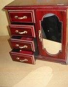 szkatułka szafka na biżuterię z pozytywką