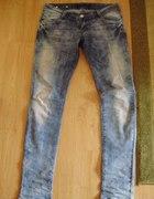 Spodnie marmurki wycierane acid wash