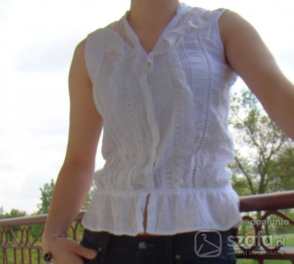Do pracy Biała bluzeczka