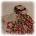chustka apaszka w kwiaty atmosphere