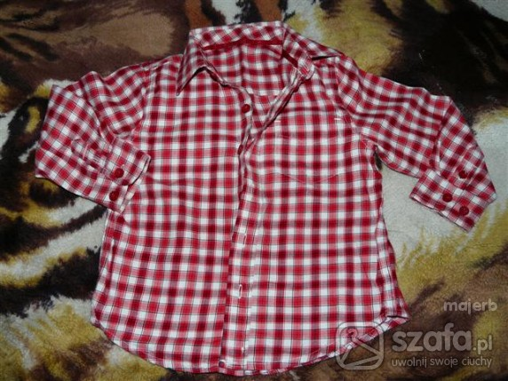 Koszulki, podkoszulki koszula w kratkę na 2 latka