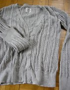 H and M sweter szary S