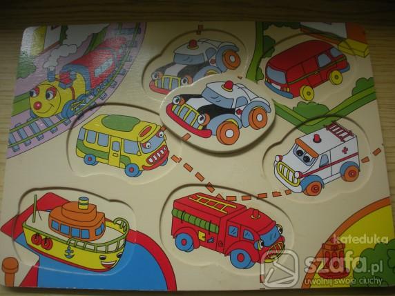 Zabawki drewniane puzzle