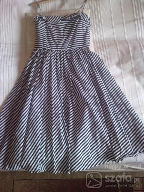 Suknie i sukienki Sukienka w paski marynarska atmosphere