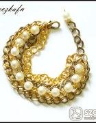 Łańcuchy i perełki W złocie i starym złocie