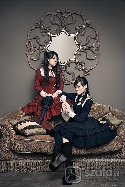 Mój styl Gothic Lolita Black and Red