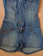 Piękny jeansowy kombinezon z tally weijl...