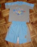 Bawełniany komplecik na lato dla chłopczyka 80 86