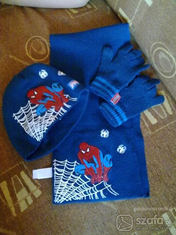 Komplety komplet czapkaszalikrekawiczki spidermana