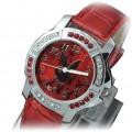 Zegarek Playboy cyrkonie czerwony
