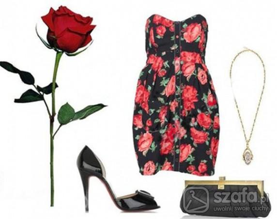 Eleganckie sukienka w kwiatki