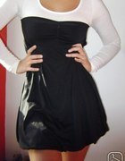 sukienka czarno biala