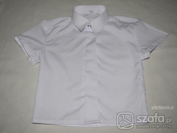 Koszulki, podkoszulki biała elegancka koszula na chrzest lub inną okazję