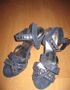 Śliczne buciki z ćwiekami ala gladiatorki
