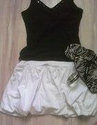 biała bombka czarna bluzeczka