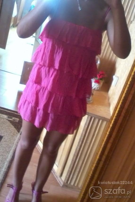 Imprezowe sexi rozowa tunika