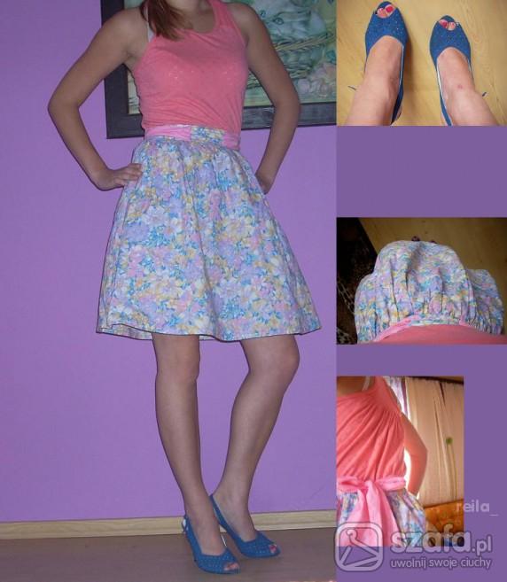 Romantyczne Spódnica floral