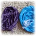 Dwie apaszki turkusowa i fioletowa