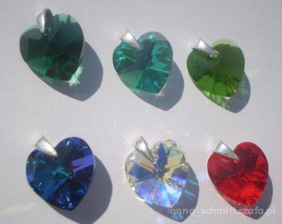 Srebrna zawieszka Swarovski Heart Serce 14 mm