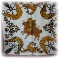 HERMES z jedwabiu elegancka apaszka
