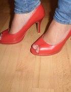 Czerwone open toe
